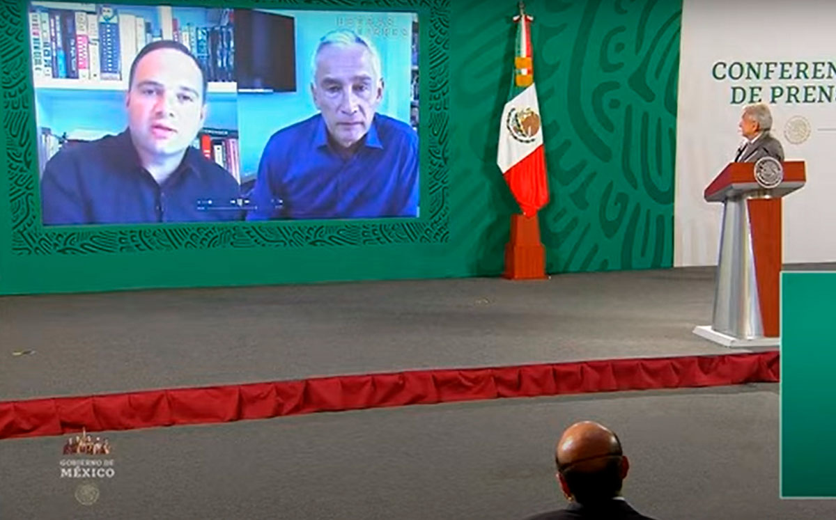 AMLO califica de tendenciosa y con falta de objetividad la entrevista que le realizó León Krauze al periodista Jorge Ramos