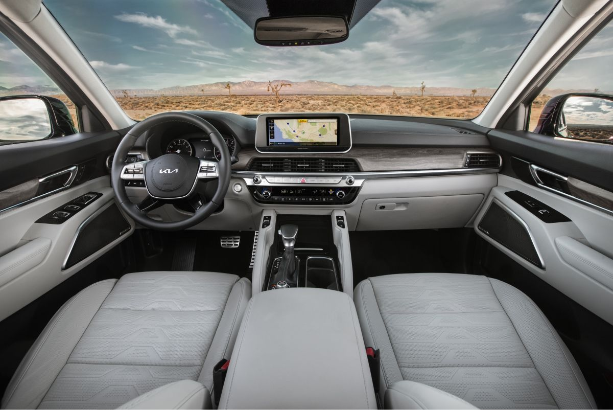 Foto del interior del nuevo Kia Telluride 2022