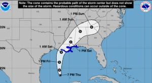 Emiten avisos de tormenta tropical para los estados de la costa del Golfo