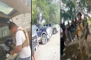 VIDEO: Narcos del Cártel del Noreste se graban tras robar en carretera fronteriza a ciudadanos mexicanos y estadounidenses