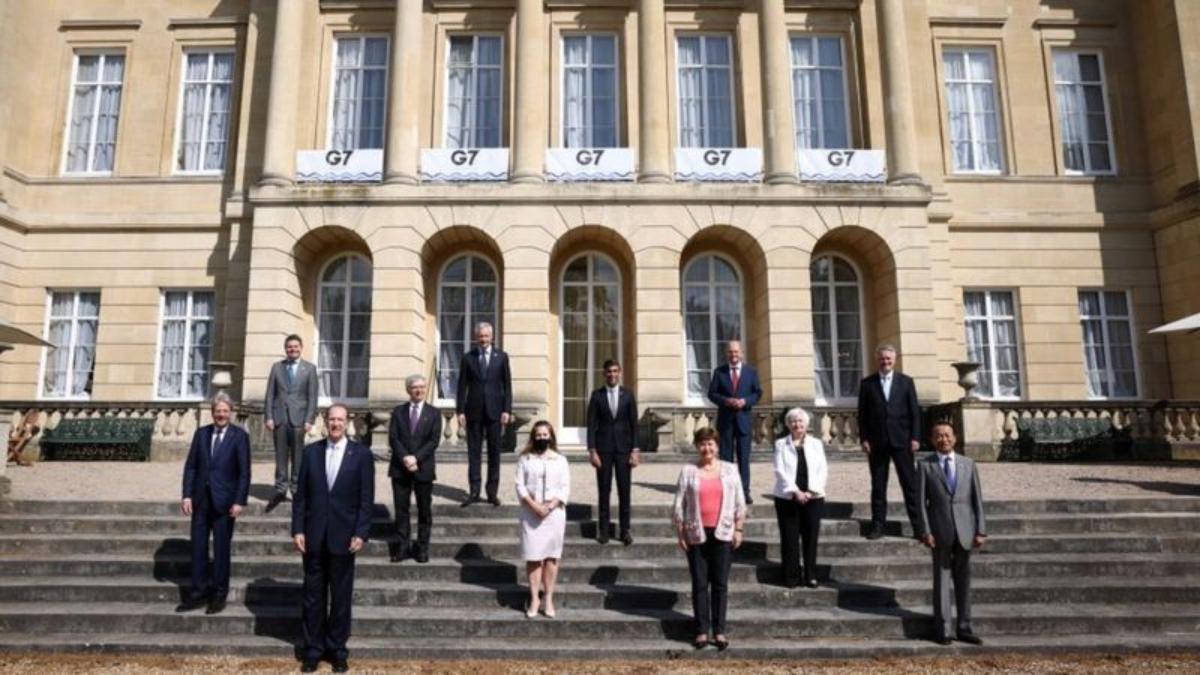 Los ministros de Finanzas del grupo G7.