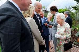 Joe Biden y la primera dama, Jill Biden, se reúnen con la Reina Isabel II en el Castillo de Windsor