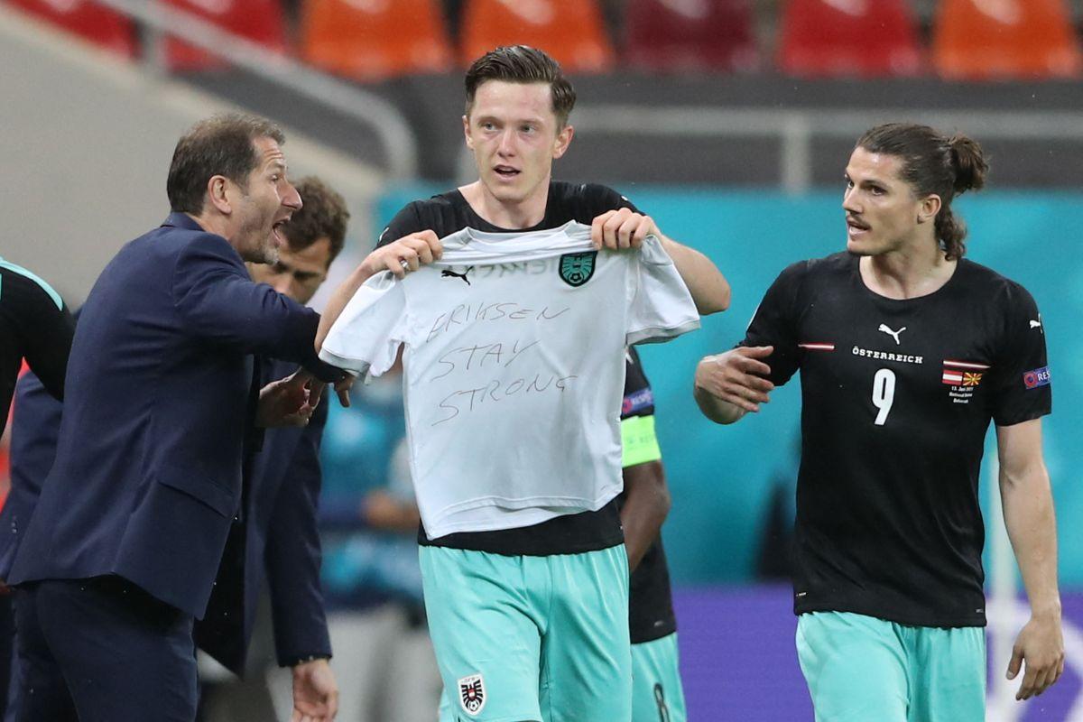 """""""Mantente fuerte"""": Gregoritsch marcó el gol 700 de la Eurocopa y se lo dedica a Eriksen"""