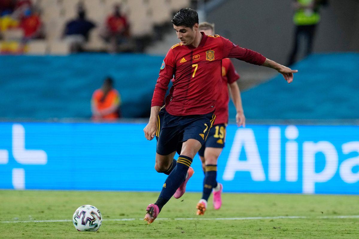 Video: Álvaro Morata falló un gol mano a mano frente al arquero