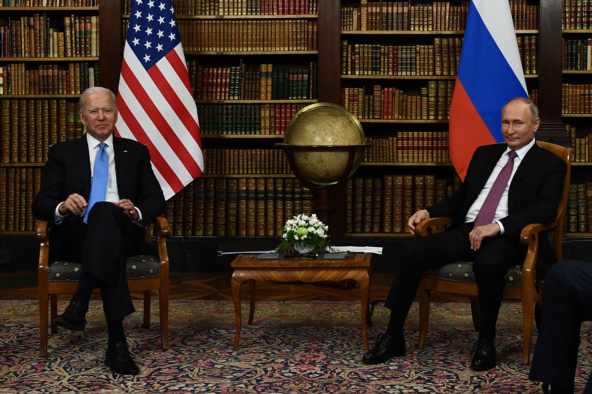 Vladimir Putin y Joe Biden en Ginebra Suiza