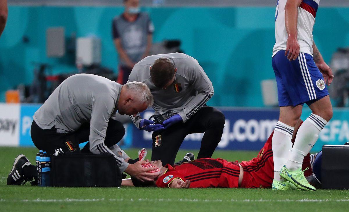 Eurocopa accidentada: Timothy Castagne fue operado por seis fracturas en su rostro