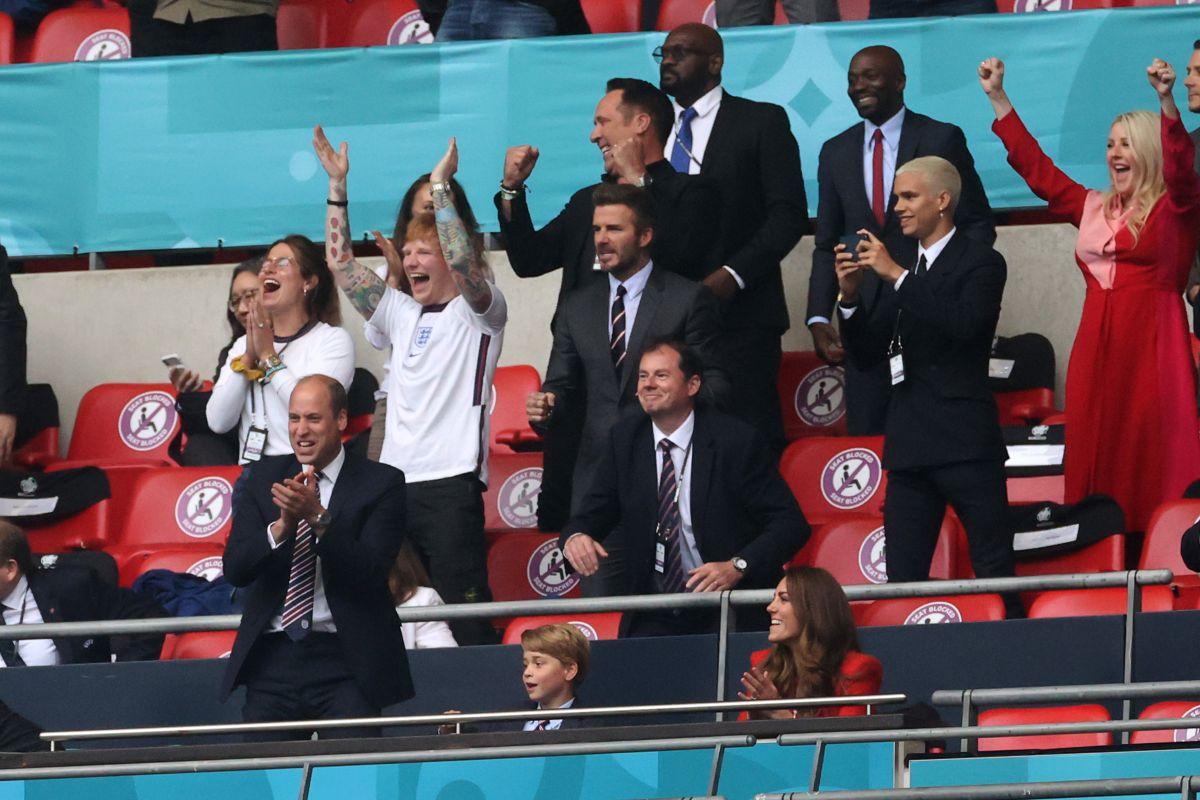 Ambas figuras se reunieron para apoyar a la selección de Inglaterra.