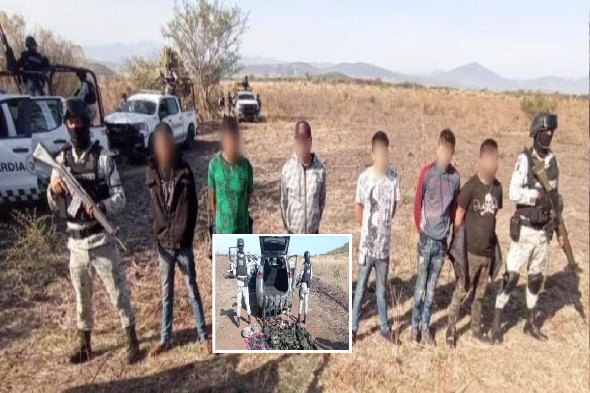 Golpe al CJNG y al Mencho caen con arsenal 6 sicarios, 3 de ellos son menores de edad