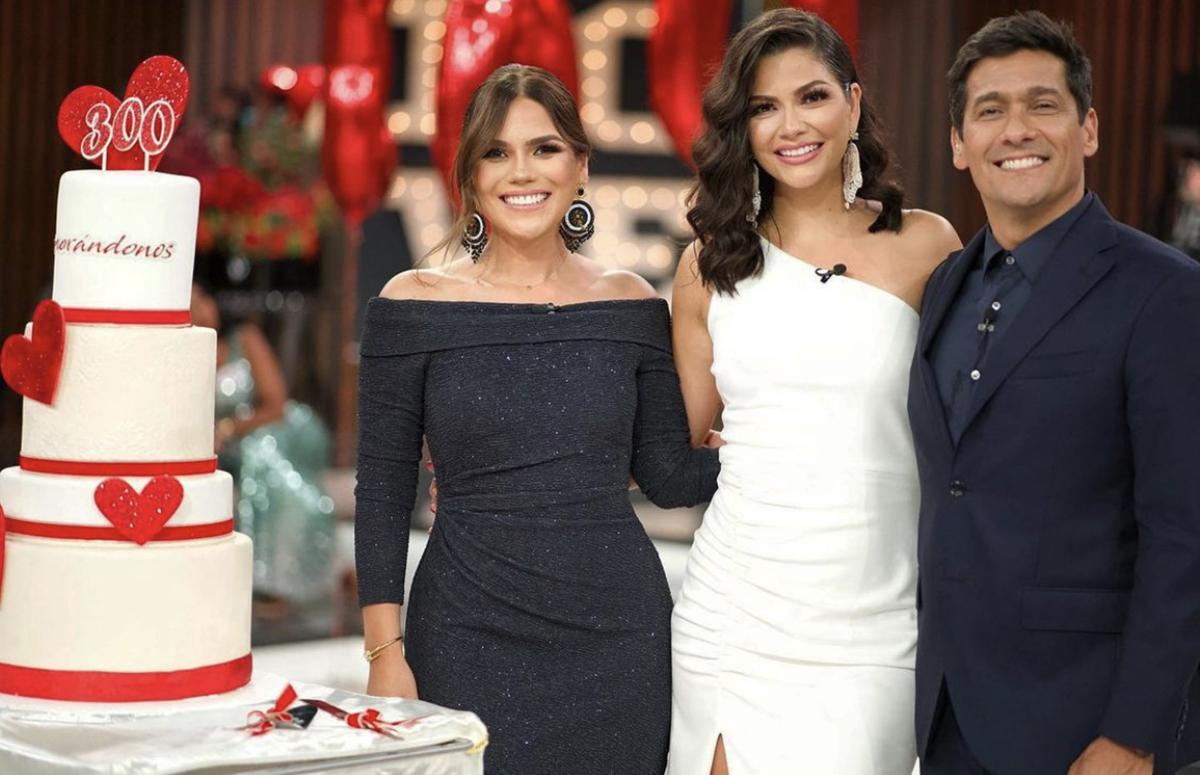 Así fue la despedida de Ana Patricia Gámez y la llegada de Karina Banda a 'Enamorándonos'
