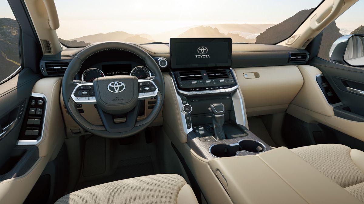Imagen digital del interior de la nueva Land Cruiser de Toyota