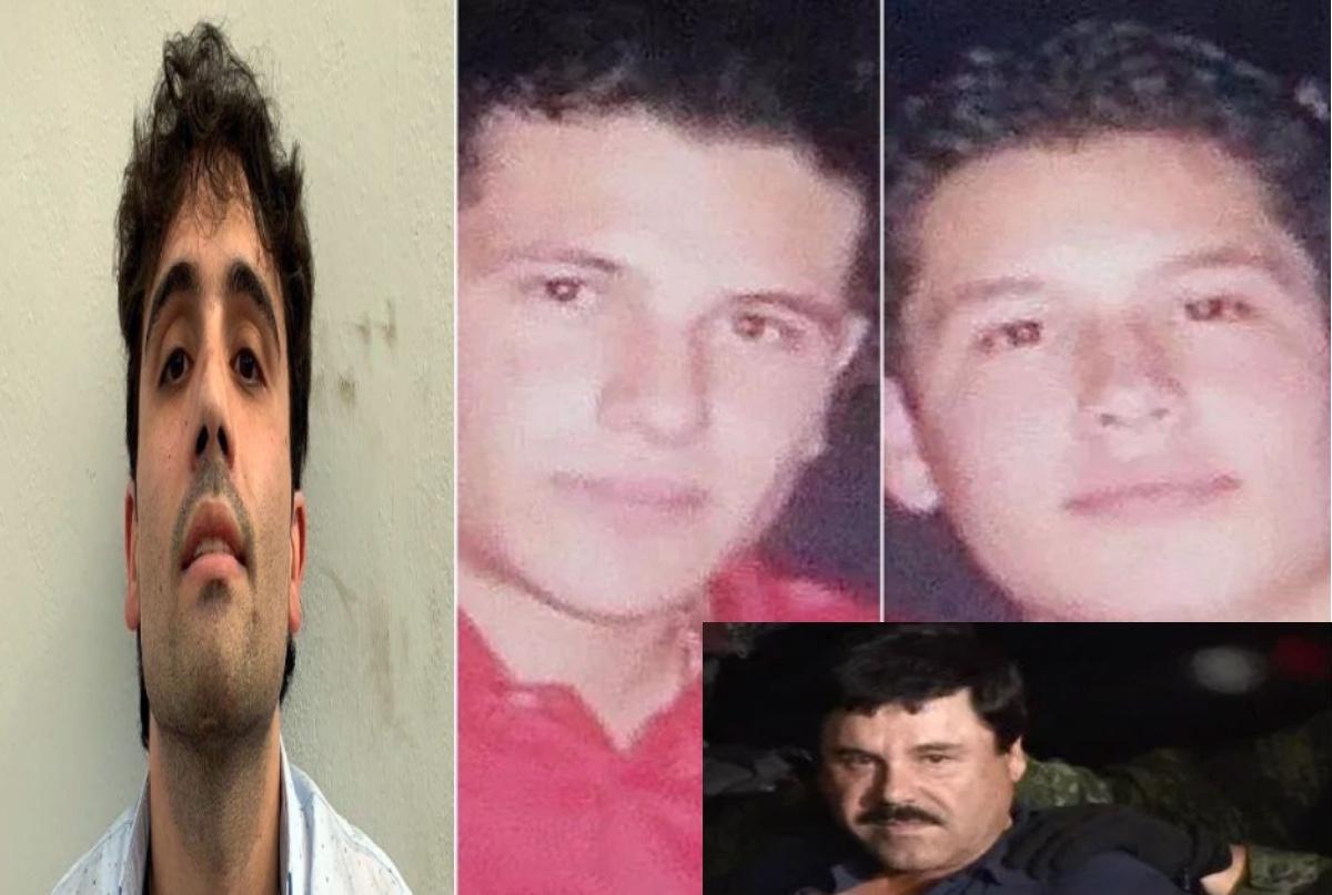 Ovidio Guzmán López, Iván Archivaldo, Alfredo Guzmán Salazar y el Chapo Guzmán.