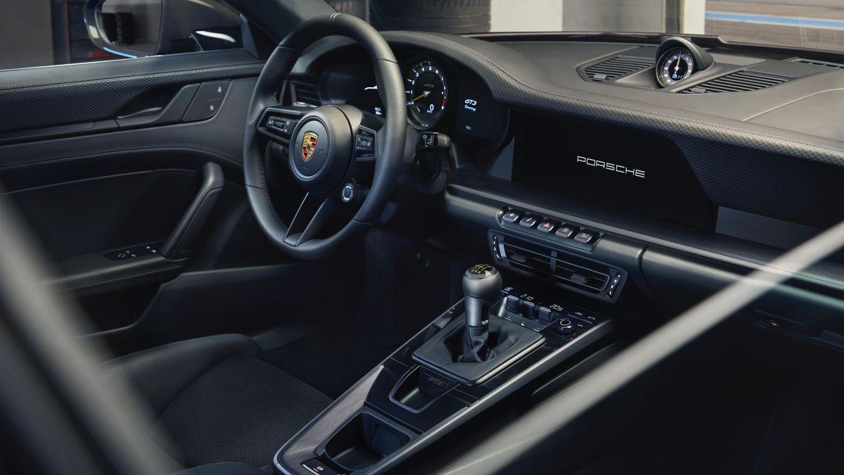 Foto del interior Porsche 911 GT3 2022del nuevo