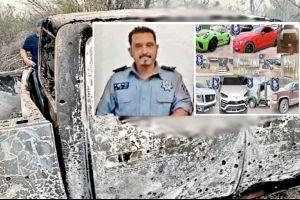 Sicarios matan y queman a comandante; decomiso de autos de lujo a narco posible móvil