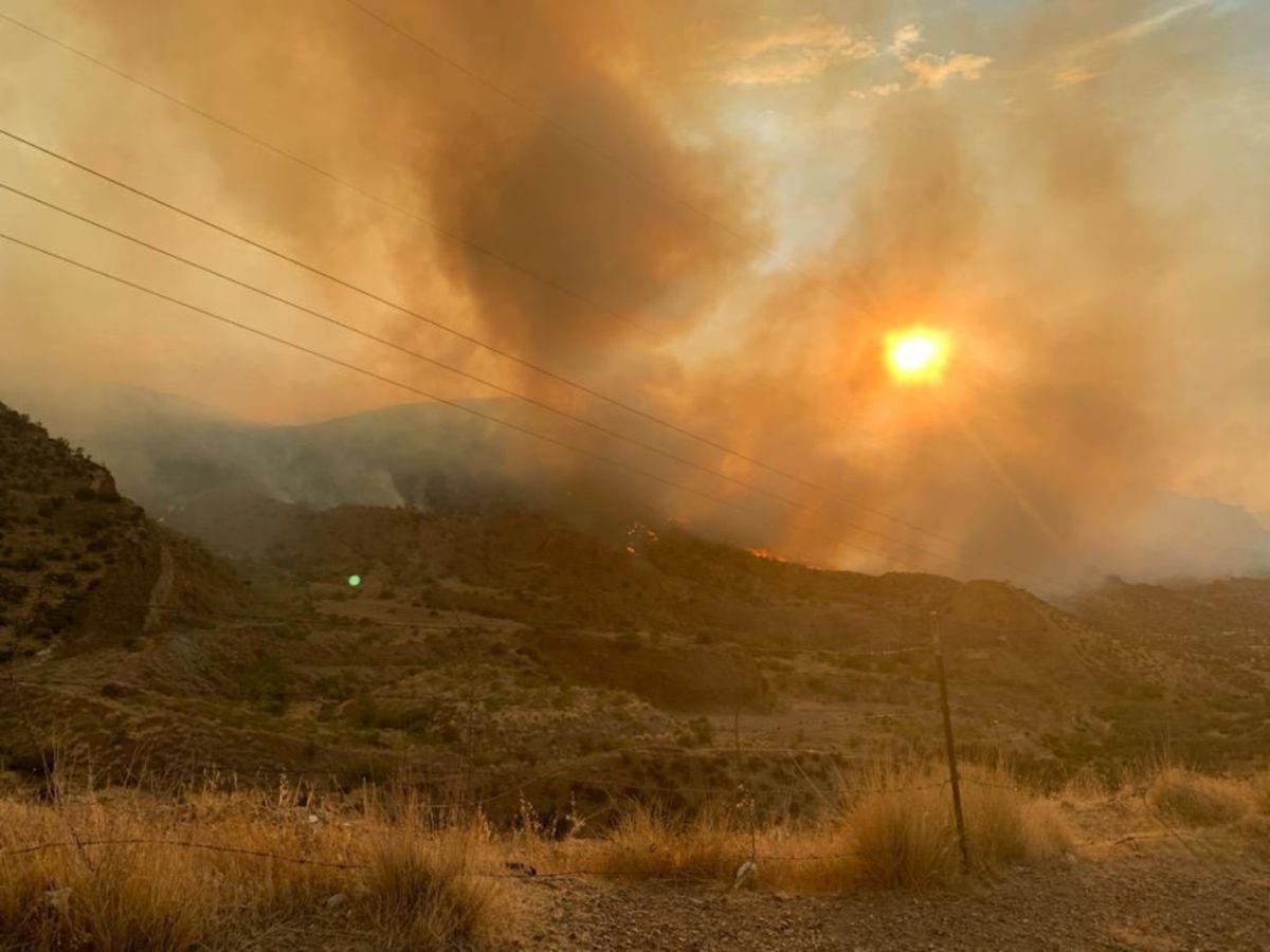 El incendio Telegraph en Arizona se ha extendido rápidamente.