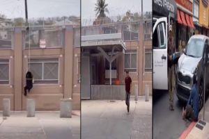 VIDEO: 5 inmigrantes trepan muro fronterizo y llegan a Arizona; detienen a uno y los demás escapan