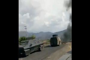 VIDEO: Cárteles Unidos golpea al Mencho y quema troca monstruo con sicarios del CJNG dentro