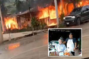 VIDEO: Matan a balazos a dueño de birriería y queman restaurante donde AMLO comió