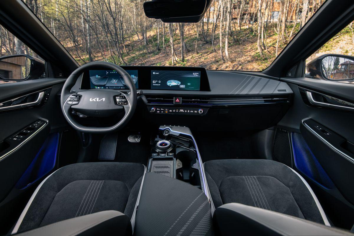 Foto del interior del Kia EV6
