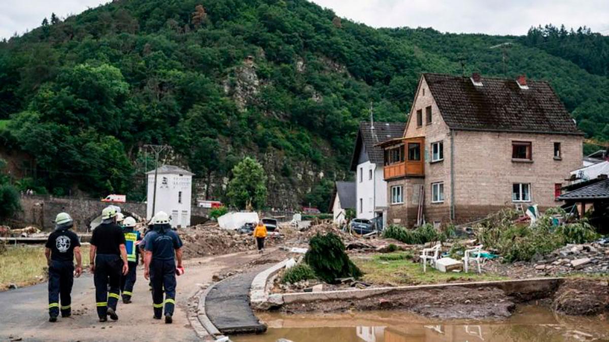 Schuld ha sido uno de los poblados más afectado por las inundaciones.