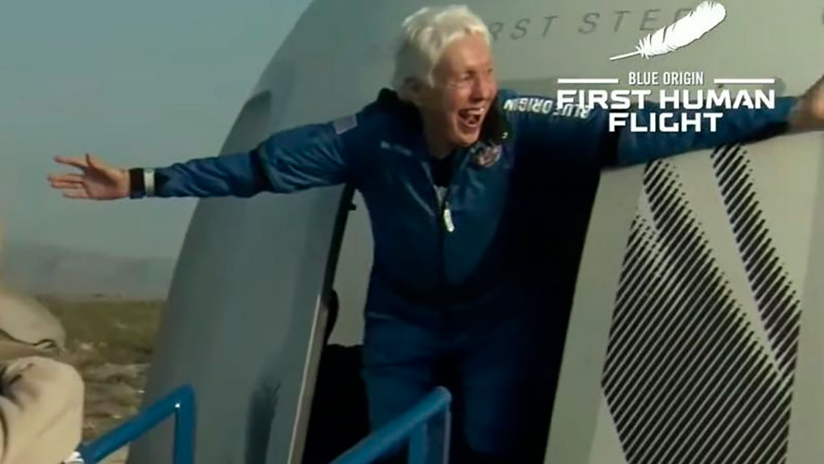 Wally Funk, la aviadora de 82 años que cumplió su sueño al volar con Blue Origin al espacio