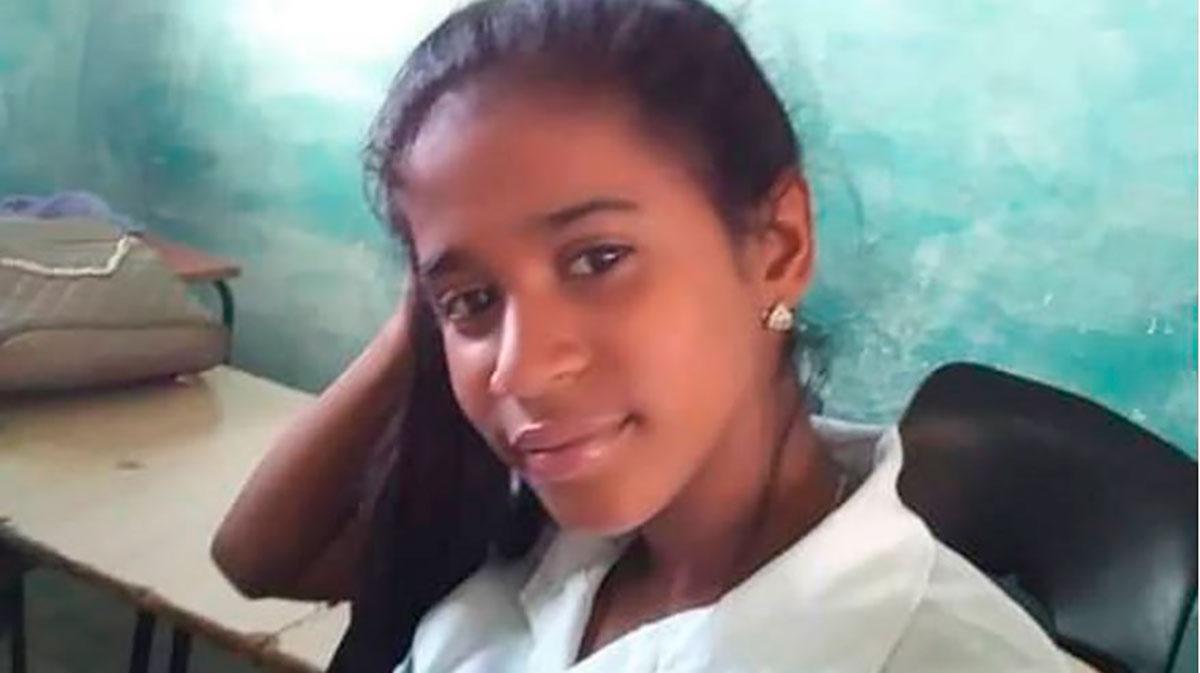 Gabriela Zequeira tiene 17 años, estudia contabilidad y fue detenida el 11 de julio en La Habana.