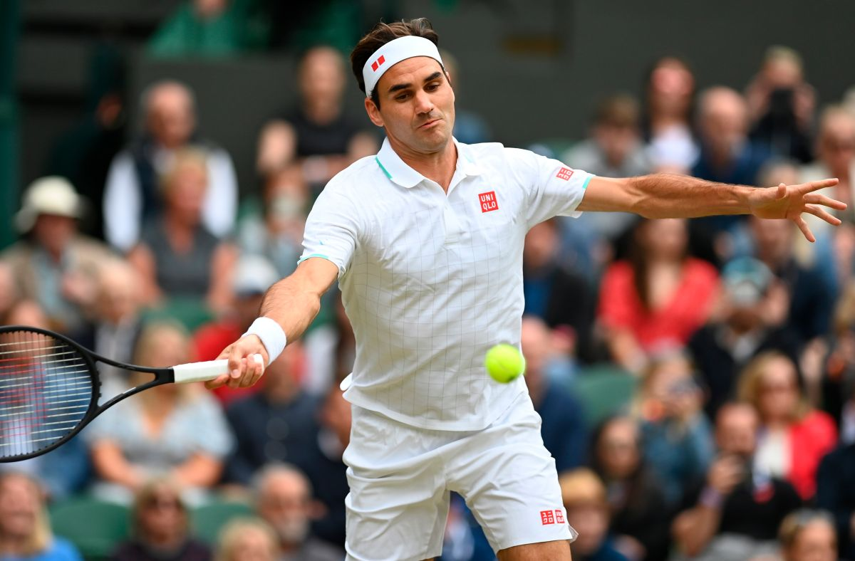 Roger Federer participó en Wimbledon 2021.