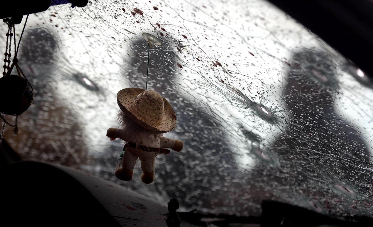 Escena del crimen tras una ejecución en Culiacán ocurrida en 2011.