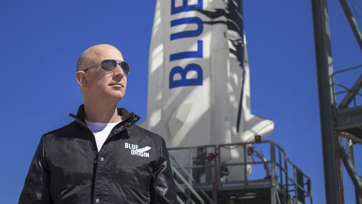 Foto de Jeff Bezos, fundador de Blue Origin,