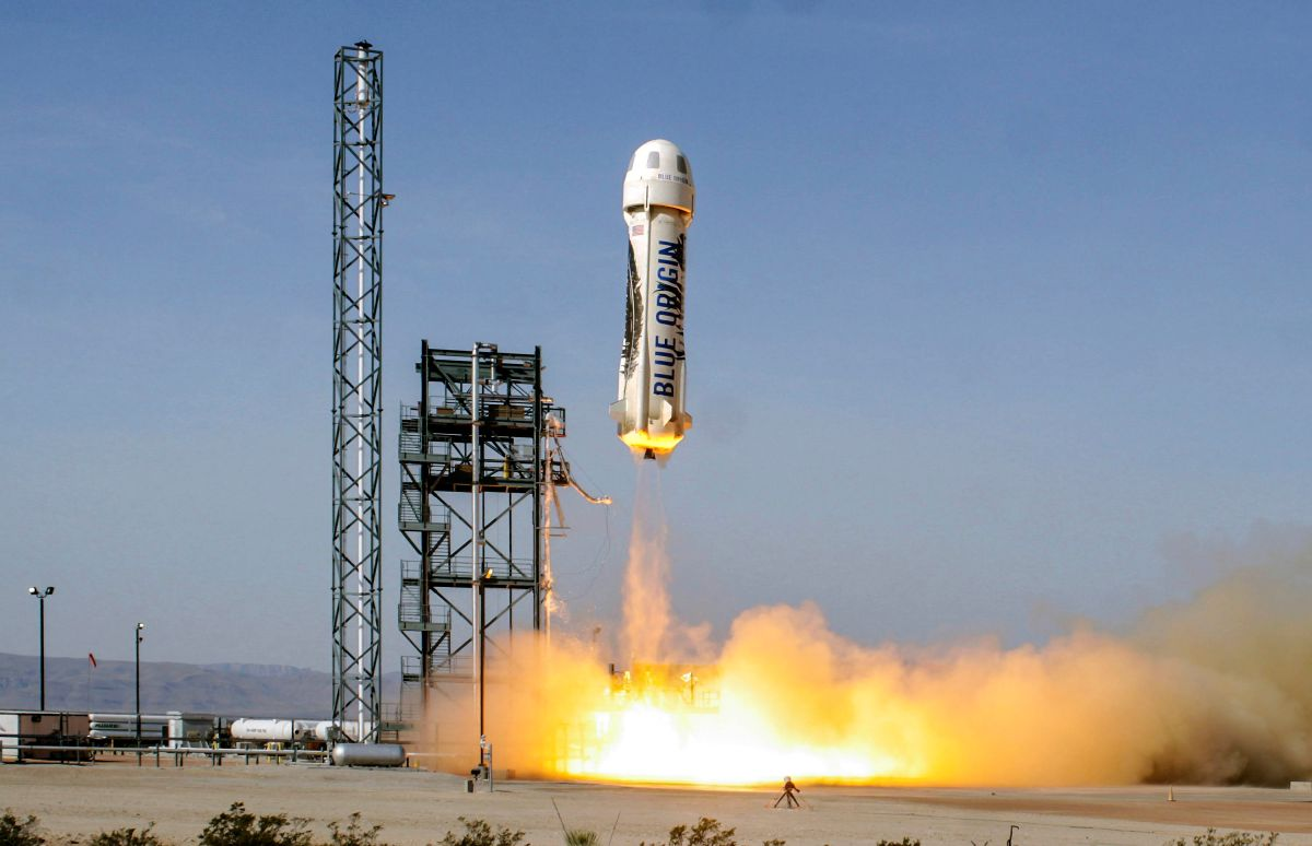Foto del New Shepard, el cohete creado por Blue Origin