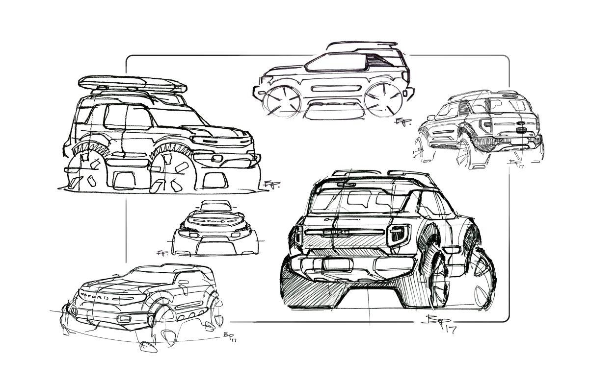 Bocetos de la Ford Bronco 2021