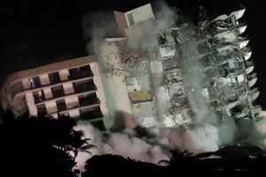 Derriban el resto de las Champlain Towers en Surfside, Miami-Dade (VIDEO)