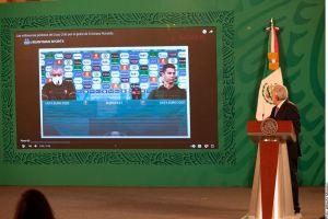 AMLO aplaude a Cristiano Ronaldo por retirar botellas de refresco y lo pone como ejemplo de salud