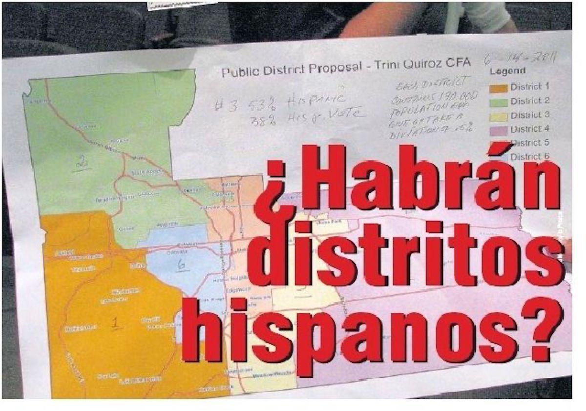 Latinos deben participar más en el rediseño de distritos. (La Prensa)