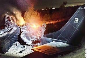 FOTOS: Narcoavioneta se incendia, queda hecha chatarra y mueren sus dos tripulantes