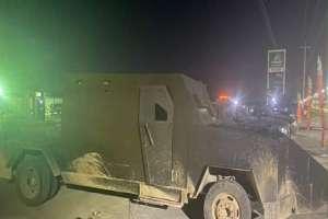 Fotos: Hallan 4 trocas monstruo del Cártel del Golfo y sus aliados del CJNG en la frontera