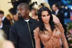 Kim Kardashian acompañó a Kanye West durante la presentación de su nuevo disco