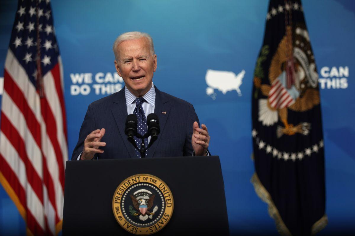 El presidente Biden busca mejorar las tasas de vacunación contra COVID-19.