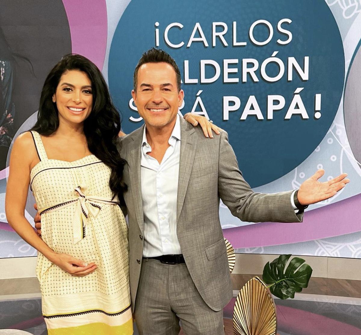 Carlos Calderón y su prometida Vanessa Lyón serán papás.