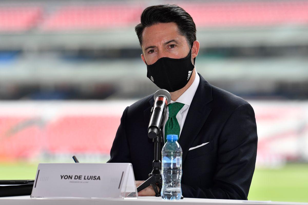 Yon de Luisa dice que los partidos sin público se jugarán en el estadio Azteca.