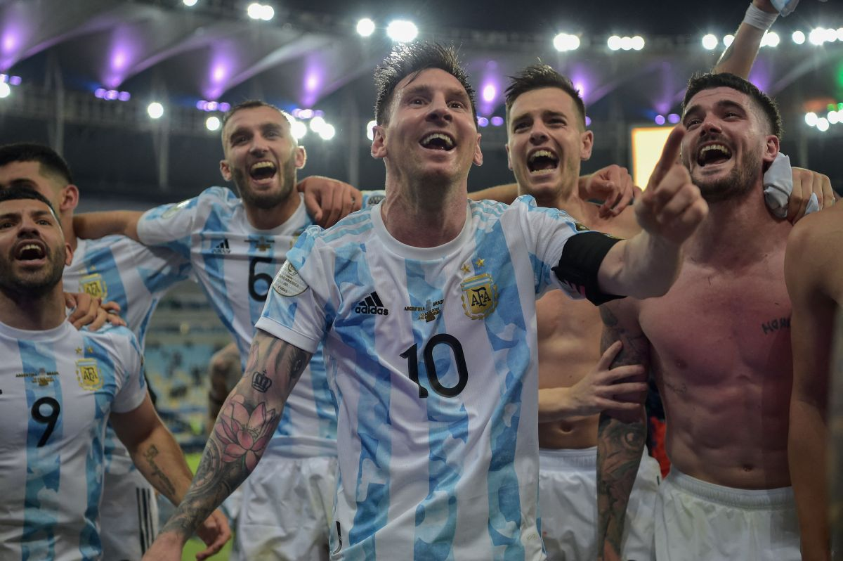 Messi celebró para Argentina, sin burlarse del rival.