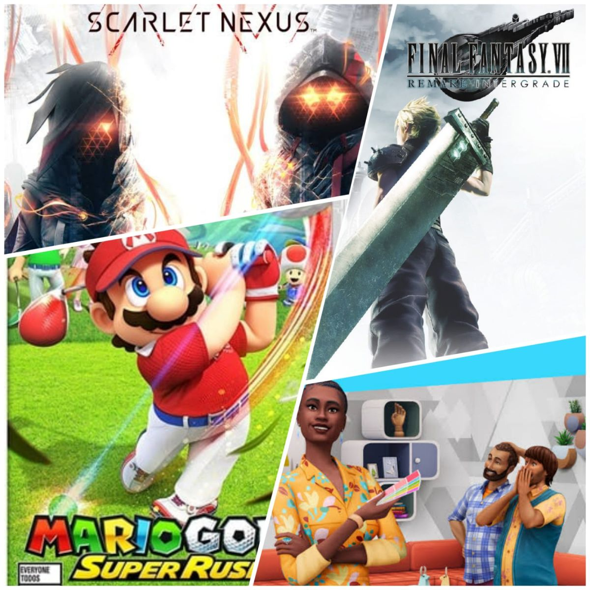 Mario Golf Super Rush Final Fantasy VII Remake Intergrade Scarlet Nexus Los Sims 4 Interiorismo