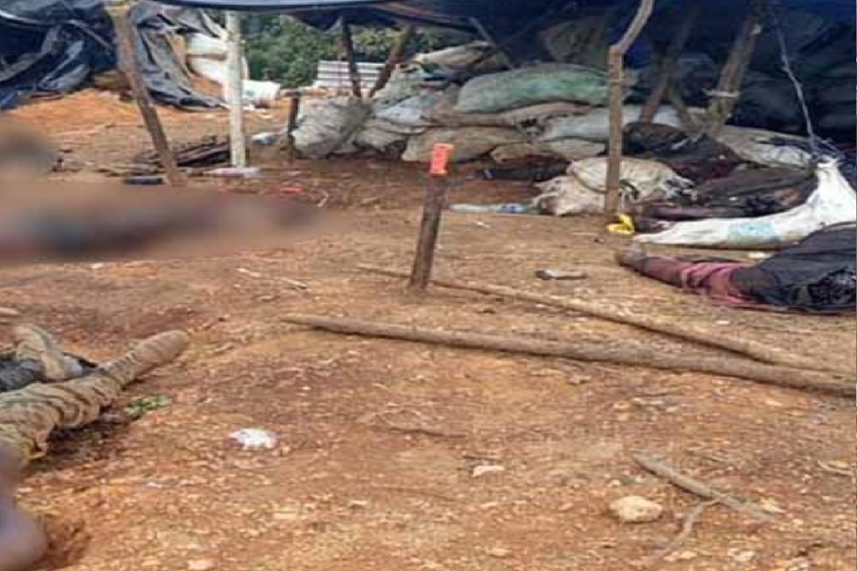 Narcocampamento de Cárteles Unidos que el CJNG convirtió en cementerio