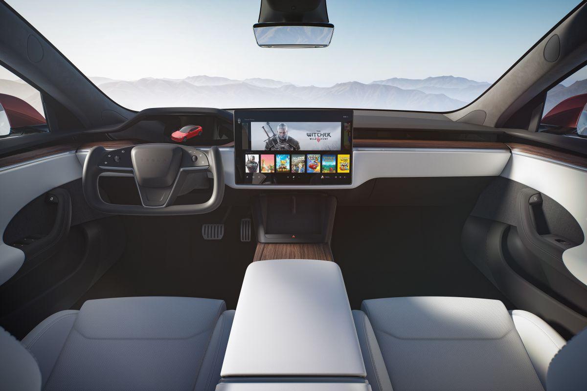 Foto del interior del Tesla Model S