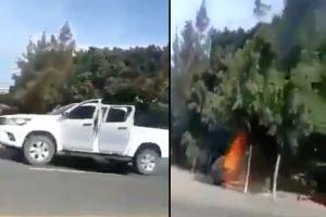 """VIDEO: CJNG y Cártel de Sinaloa protagonizan otro """"topón"""" en frontera sur de México"""