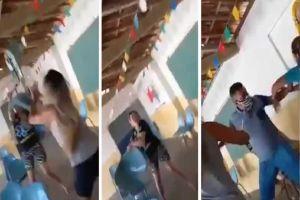 VIDEO: Mujeres se pelean por marido o disputa familiar, la verdad sobre pelea en punto de vacunación