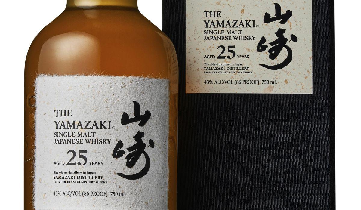 Whisky de malta simple Yamazaki 25 reformulado.