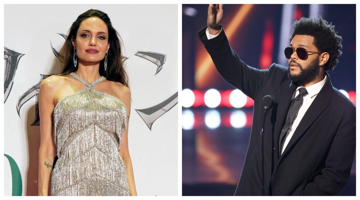 Angelina Jolie y The Weeknd.