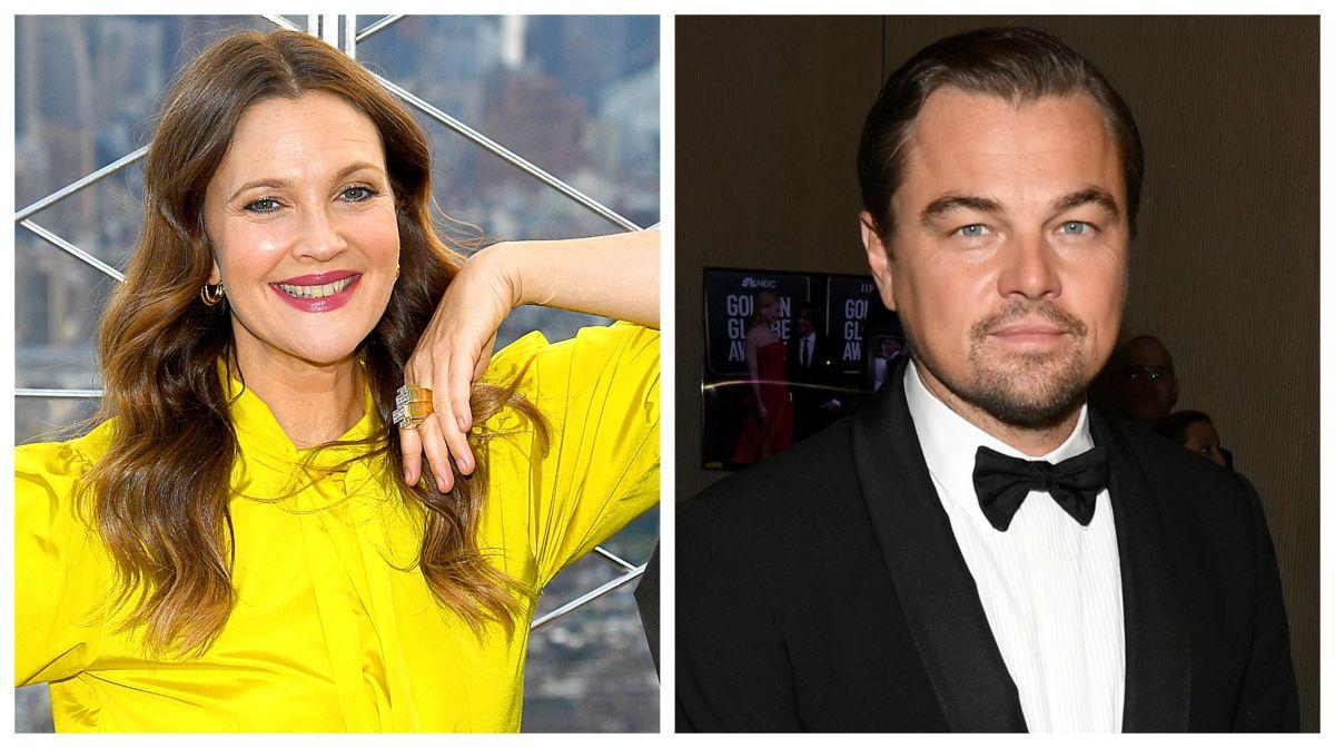 Drew Barrymore y Leonardo DiCaprio.