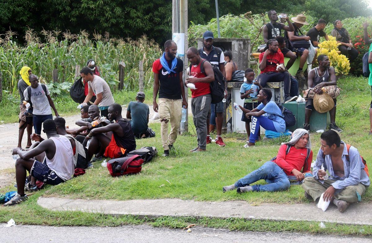 Autoridades mexicanas disolvieron una caravana migrante.