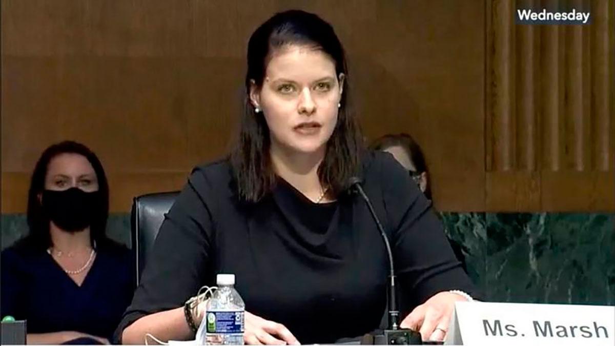 Amy Marsh ha presentado su caso frente al Congreso para pedir una reforma en el sistema de justicia militar para abusos sexuales.
